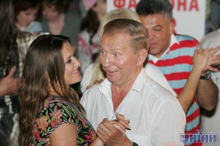 Наталя Могілевська та Леонід Кучма