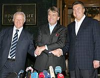 Мороз, Ющенко, Янукович