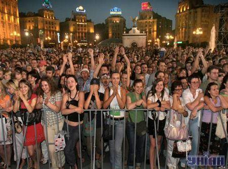 Вид зі сцени на Майдан
